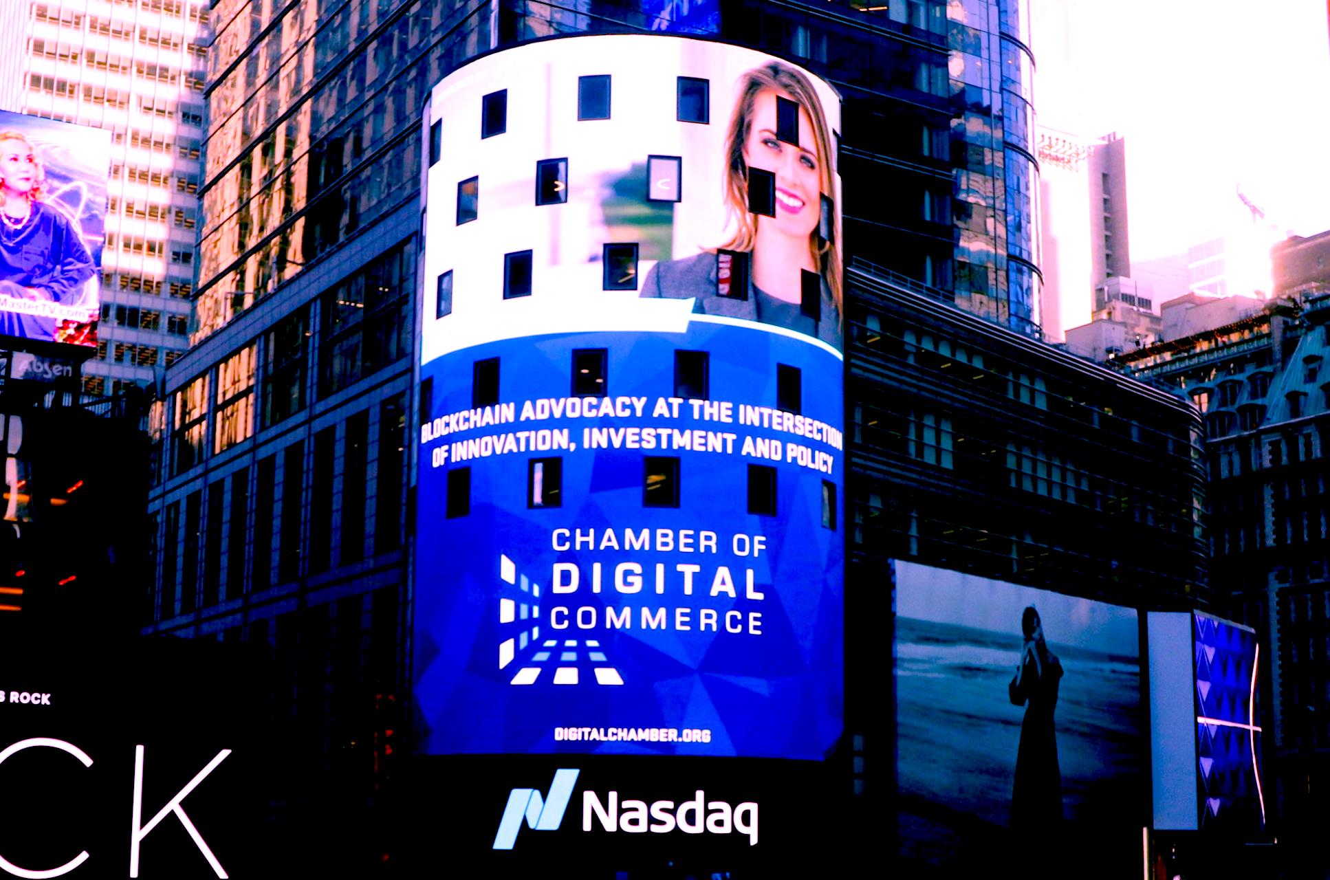 Times Square Gets Blockchain Glitz