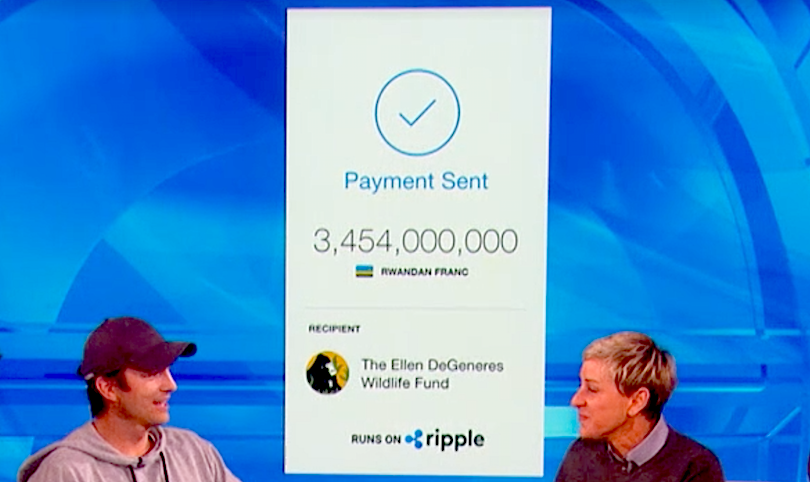 $4 Million XRP Donation from Ashton Kutcher to Ellen DeGeneres Gives Celebrity Shine to Cryptocurrencies