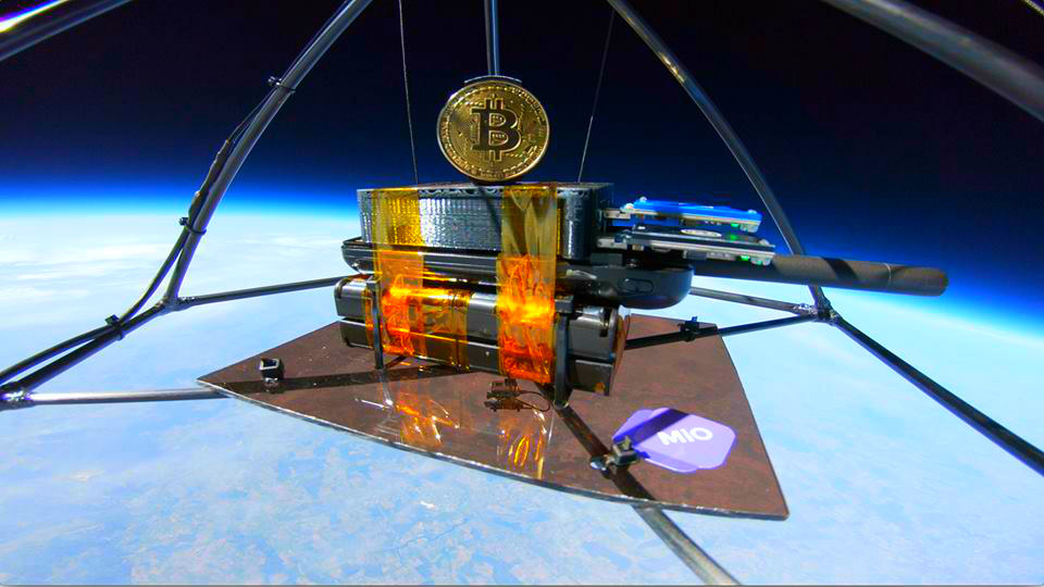 """Up, Up and Away, Bitcoin Goes """"To the Moon"""" – in a Balloon"""