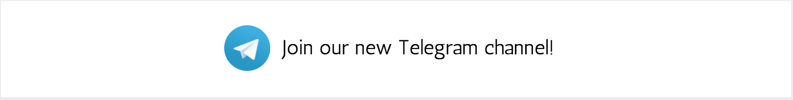 Join us on Telegram!