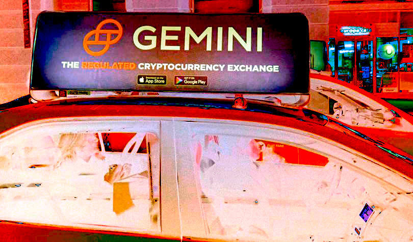 Marketing Bitcoin and Crypto on Trains, in Cabs, on Buses and in Parks – Gemini Style