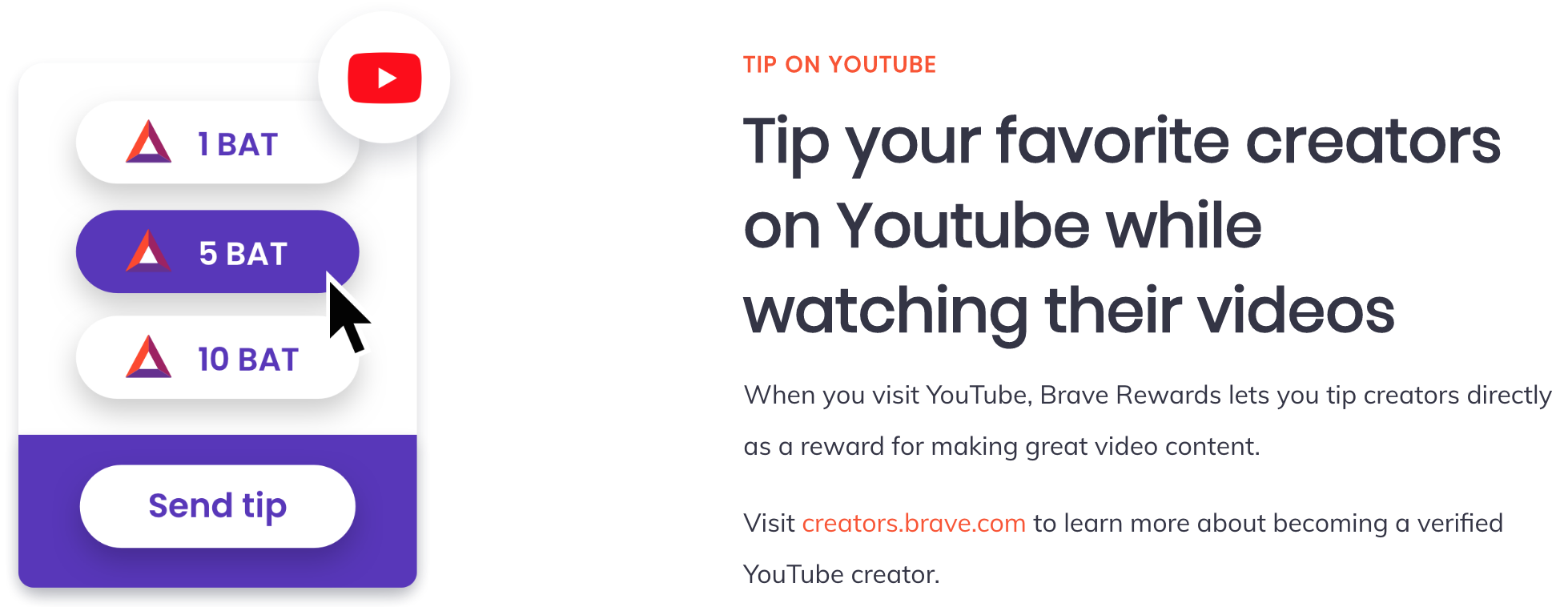 Brave Offers Crypto Tipping Feature for Reddit and Vimeo